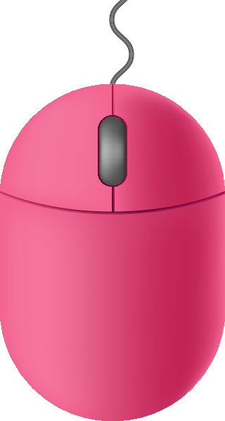 Pink mouse icon free vector data.