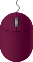 Purple mouse icon free vector data.
