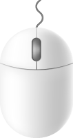 White mouse icon free vector data.