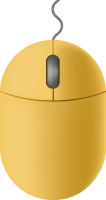 Yellow mouse icon free vector data.