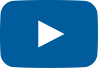 blue movie play button vector icon