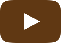 brown movie play button vector icon
