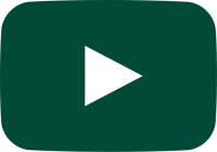 dark green movie play button vector icon