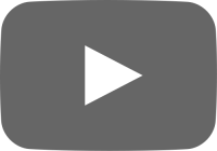 gray movie play button vector icon