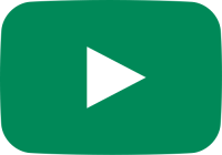 green movie play button vector icon