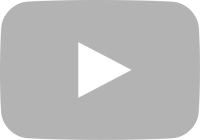 light gray movie play button vector icon