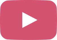 light pink movie play button vector icon