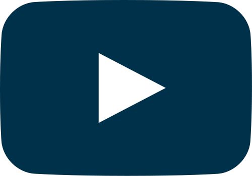 navy blue movie play button vector icon