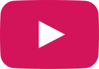pink movie play button vector icon