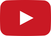 red movie play button vector icon