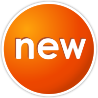 Orange New Icon Vector Data