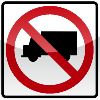 NO LARGE TRUCKS Sign