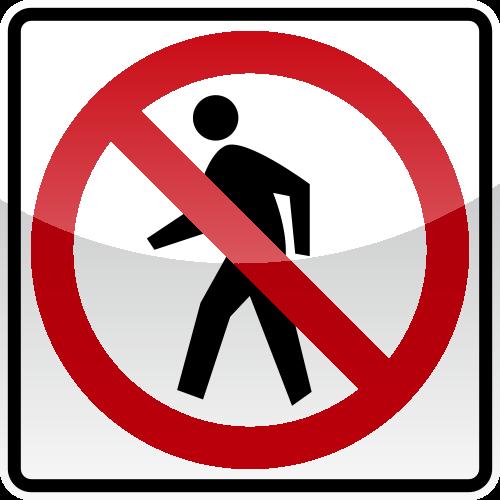 No Pedestian Crossing Sign Svg Vector Public Domain