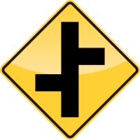 OFFSET ROADS Sign