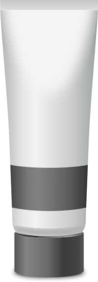 PAINT TUBE GRAY free vector data