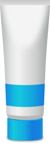 PAINT TUBE LIGHT BLUE free vector data