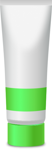 PAINT TUBE LIGHT GREEN free vector data
