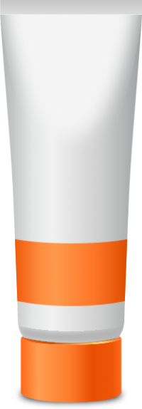 PAINT TUBE LIGHT ORANGE free vector data