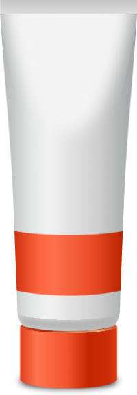 PAINT TUBE ORANGE free vector data