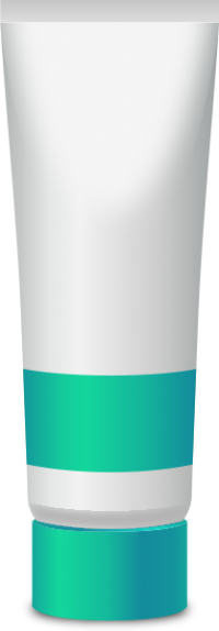 PAINT TUBE TURQUOISE BLUE free vector data