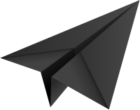 Black paper plane, paper aeroplane vector  icon  data for free