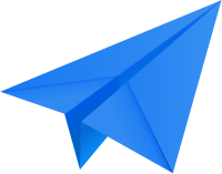 Blue paper plane, paper aeroplane vector  icon  data for free