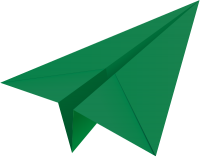 Dark green paper plane, paper aeroplane vector  icon  data for free