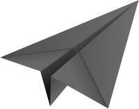 Gray paper plane, paper aeroplane vector  icon  data for free
