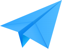 Light blue paper plane, paper aeroplane vector  icon  data for free