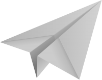 Light gray paper plane, paper aeroplane vector  icon  data for free