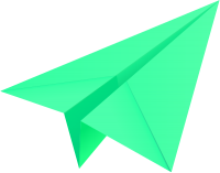 Light green paper plane, paper aeroplane vector  icon  data for free