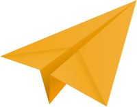 Light orange paper plane, paper aeroplane vector  icon  data for free
