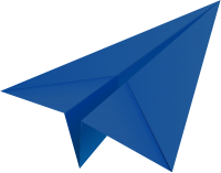Navy blue paper plane, paper aeroplane vector  icon  data for free