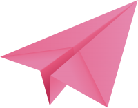 Pink paper plane, paper aeroplane vector  icon  data for free