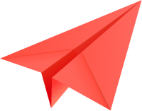 Red paper plane, paper aeroplane vector  icon  data for free