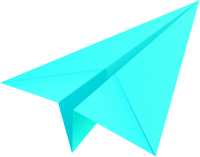 Turquoise blue paper plane, paper aeroplane vector  icon  data for free