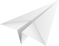 White paper plane, paper aeroplane vector  icon  data for free