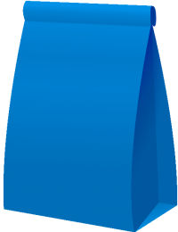 PAPER BAG2 BLUE vector icon