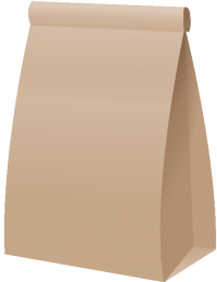 PAPER BAG2 BROWN vector icon