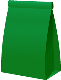 PAPER BAG2 DARK GREEN vector icon