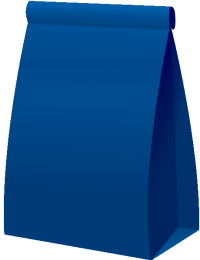 PAPER BAG2 NAVY BLUE vector icon