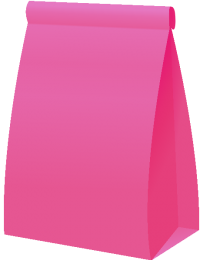 PAPER BAG2 PINK vector icon