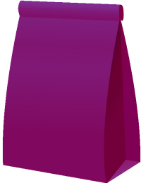 PAPER BAG2 PURPLE vector icon