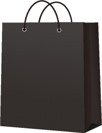 PAPER BAG BLACK vector icon