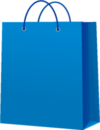 PAPER BAG BLUE vector icon