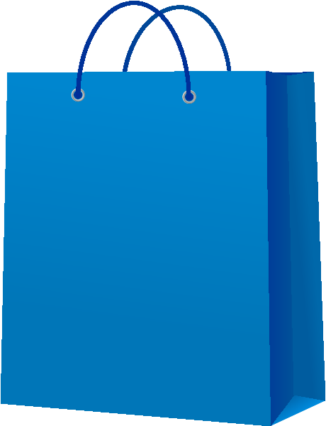 Paper Bag Design Vector Paper Bag Blue Vector Icon