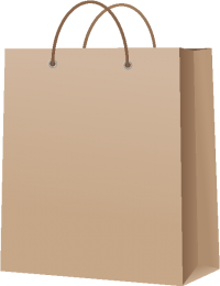 PAPER BAG BROWN vector icon