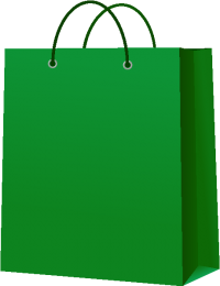 PAPER BAG DARK GREEN vector icon