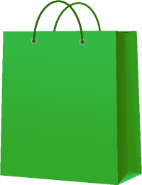 PAPER BAG GREEN vector icon