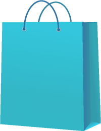 PAPER BAG LIGHT BLUE vector icon